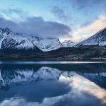 mountains reflecting water patagonia