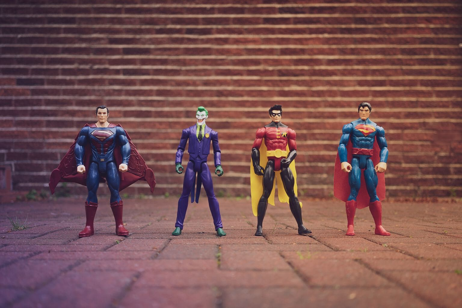 Four Superhero Action Pieces